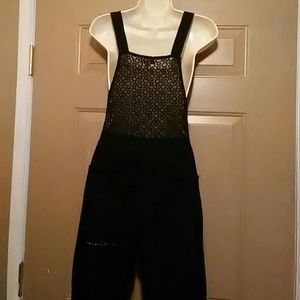 Nameless Pants - NWOT NAMELESS THICK LACE CROP OVERALLS-SIZE SMALL